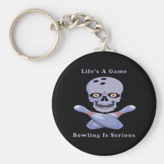 Bowling Is Serious Basic Round Button Keychain