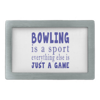BOWLING JUST A GAME BELT BUCKLES
