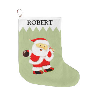 Bowling Large Christmas Stocking