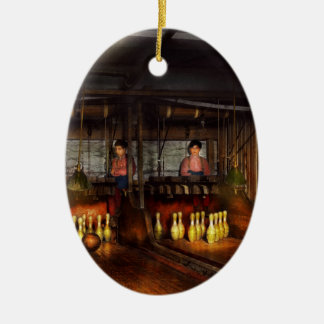 Bowling - Life in the gutter 1910 Ceramic Ornament