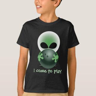 Bowling Little Green Guy T-Shirt
