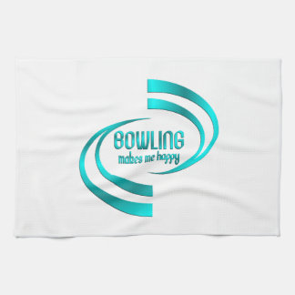 Bowling Makes Me Happy Hand Towels