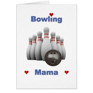 Bowling Mama Hearts Card