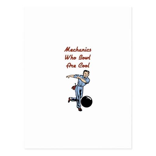 Bowling Mechanics Postcard