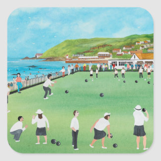 Bowling on Newlyn Green Square Sticker