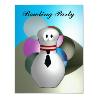 "Bowling  Party 4.25"" X 5.5"" Invitation Card"