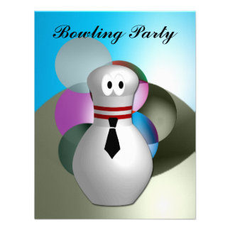 Bowling Party Custom Invitation