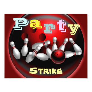 Bowling Party Invitations