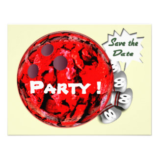 Bowling Party Invitations Customizable