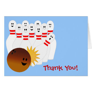 Bowling Party Thank You Note Card