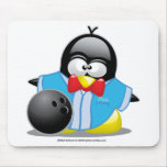 Bowling Penguin Mouse Pad