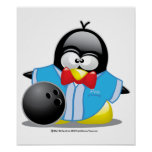 Bowling Penguin Posters