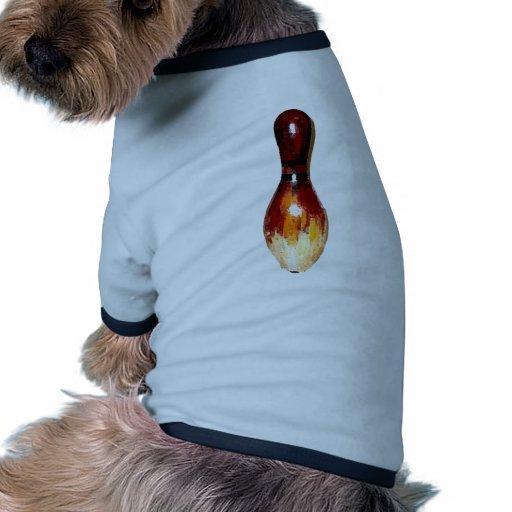 Bowling Pin Antique Doggie Tshirt