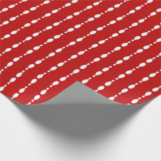 Bowling Pin Strped Pattern | Any Background Color Wrapping Paper