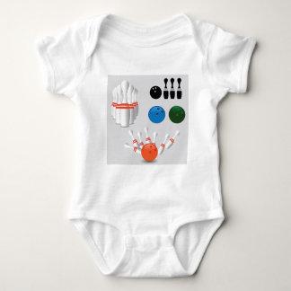 bowling pins baby bodysuit