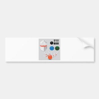 bowling pins bumper sticker