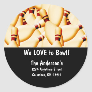 Bowling Pins Design 2 Address Labels