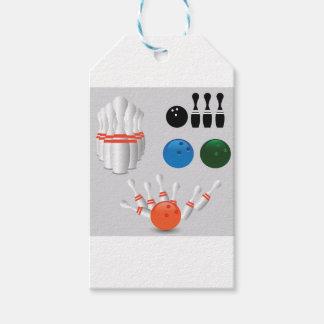 bowling pins gift tags