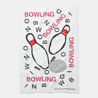 Bowling Pins Kitchen Towel