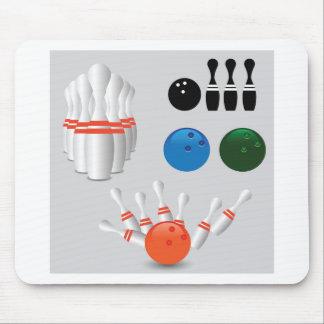bowling pins mouse pad