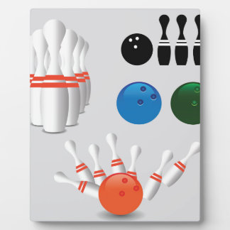 bowling pins plaque