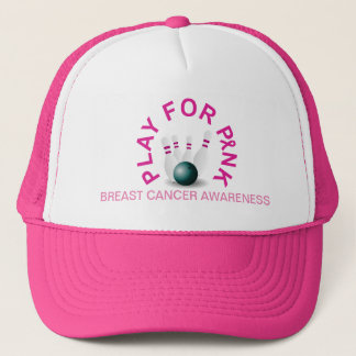 Bowling Play for Breast Cancer Awareness Hat