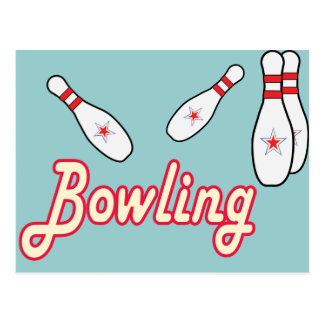 Bowling Retro Postcard