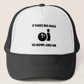 bowling shirt for bowlers trucker hat
