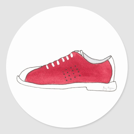 Bowling Shoe Sticker