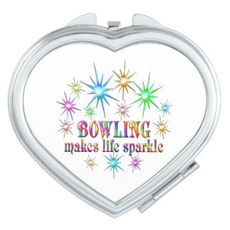 Bowling Sparkles Compact Mirrors