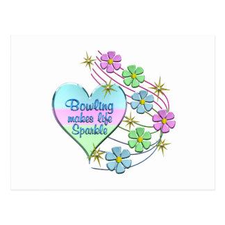 Bowling Sparkles Postcard