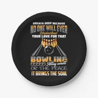 Bowling Sport Hobby 7 Inch Paper Plate