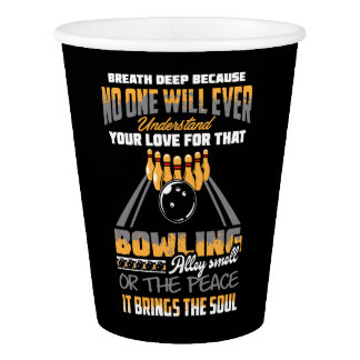 Bowling Sport Hobby Paper Cup