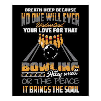 Bowling Sport Hobby Poster