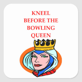 bowling square sticker