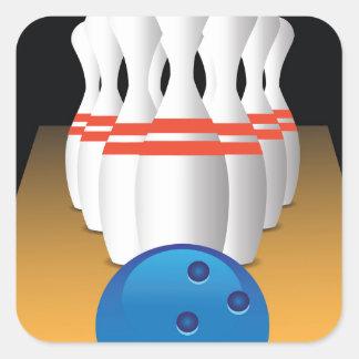 bowling square sticker