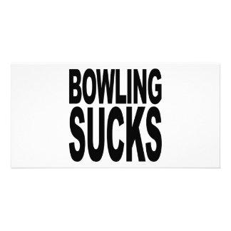 Bowling Sucks Custom Photo Card