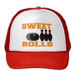 Bowling Sweet Rolls Mesh Hats