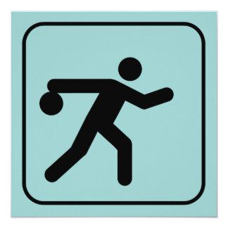 Bowling Symbol Invitation