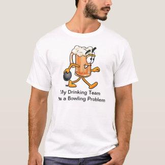 Bowling Team T-shirt with Cartoon Beer Mug