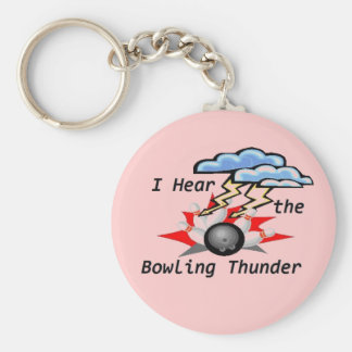 Bowling Thunder Basic Round Button Keychain