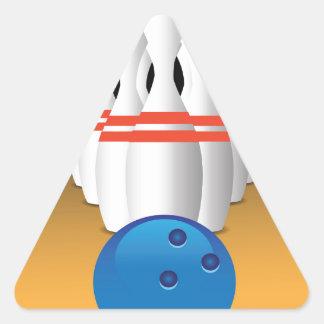 bowling triangle sticker