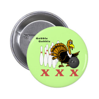 Bowling Turkey XXX 2 Inch Round Button