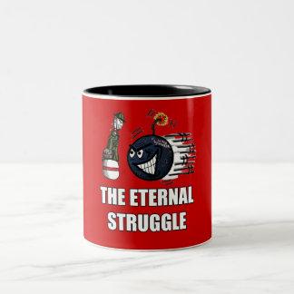Bowling-War Two-Tone Coffee Mug