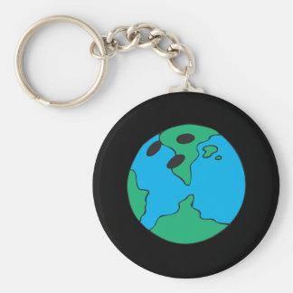 Bowling World Basic Round Button Keychain