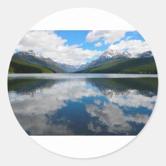 Bowman Lake Classic Round Sticker