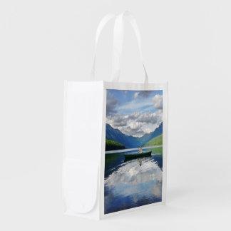 Bowman Lake - Glacier National Park Montana Grocery Bag