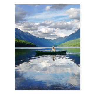 Bowman Lake - Glacier National Park Montana Postcard
