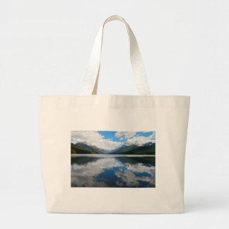 Bowman Lake Large Tote Bag