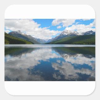 Bowman Lake Square Sticker
